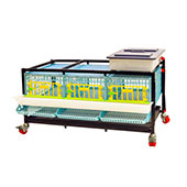 Quail Cage for Egg - 3 Section / 1 Tier